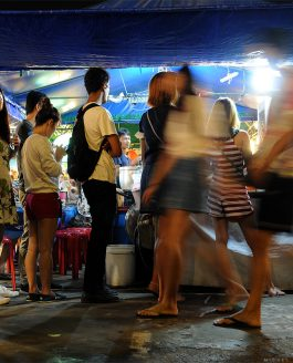 Queuing at the Night Market